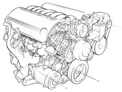 Compression Ratio Engine Illustration